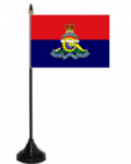 Royal Artillery Regiment Desk / Table Flag with plastic stand and base.
